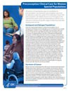 Clinical Care for Women Special Populations Fact Sheet