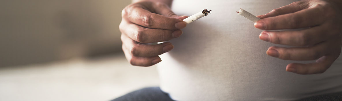 Smoking is a bad habit prohibited during pregnancy