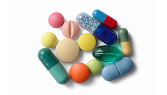 Picture of several types of medications