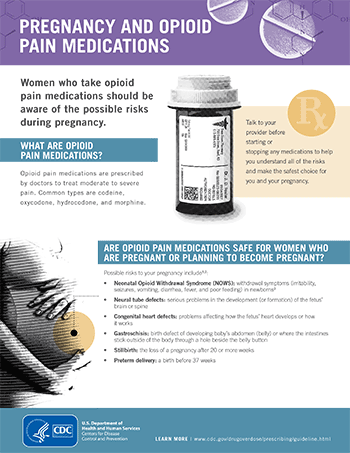 Pregnancy opioid pain factsheet thumbnail