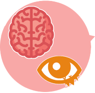 brain and eye icons