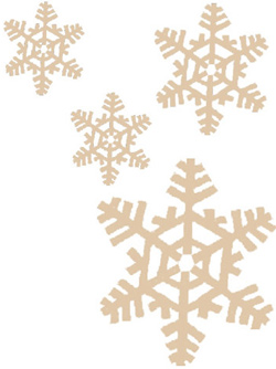 Illustration of snowflakes