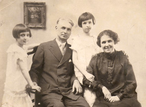 (left to right) Jane, Art, Judy, and Agnes McLaughlin