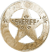 Illustration of sheriff badge