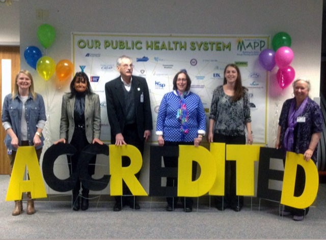 Local health officials and accreditation coordinators from the three accredited local health departments in Kentucky.