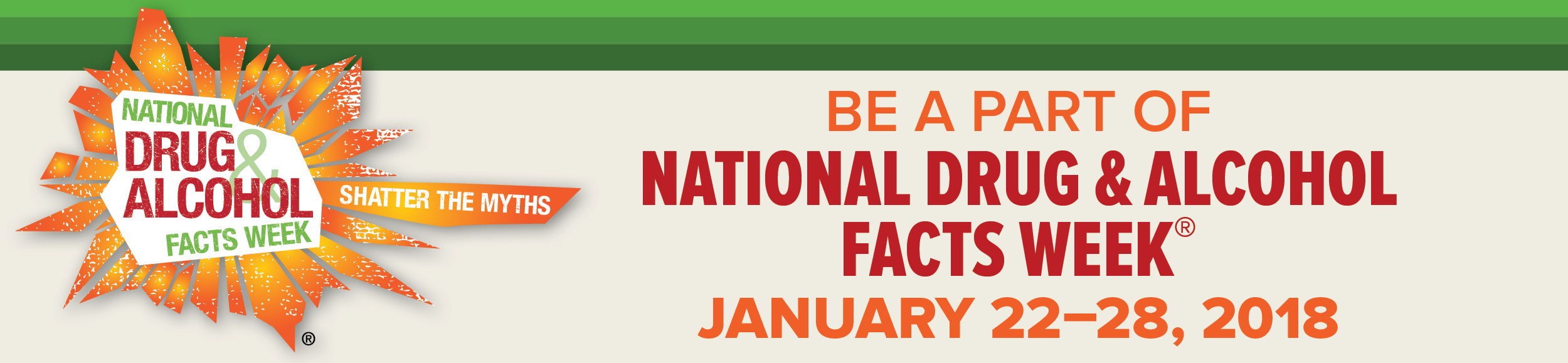 National Drug and Alcohol Facts Week, January 22-28, 2018