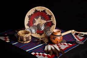 Miscellaneous collection of handmade tribal goods