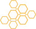 Depiction of a set of random honeycombs