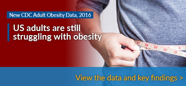 New CDC Adult Obesity Data, 2016 - US adults are still struggling with obesity