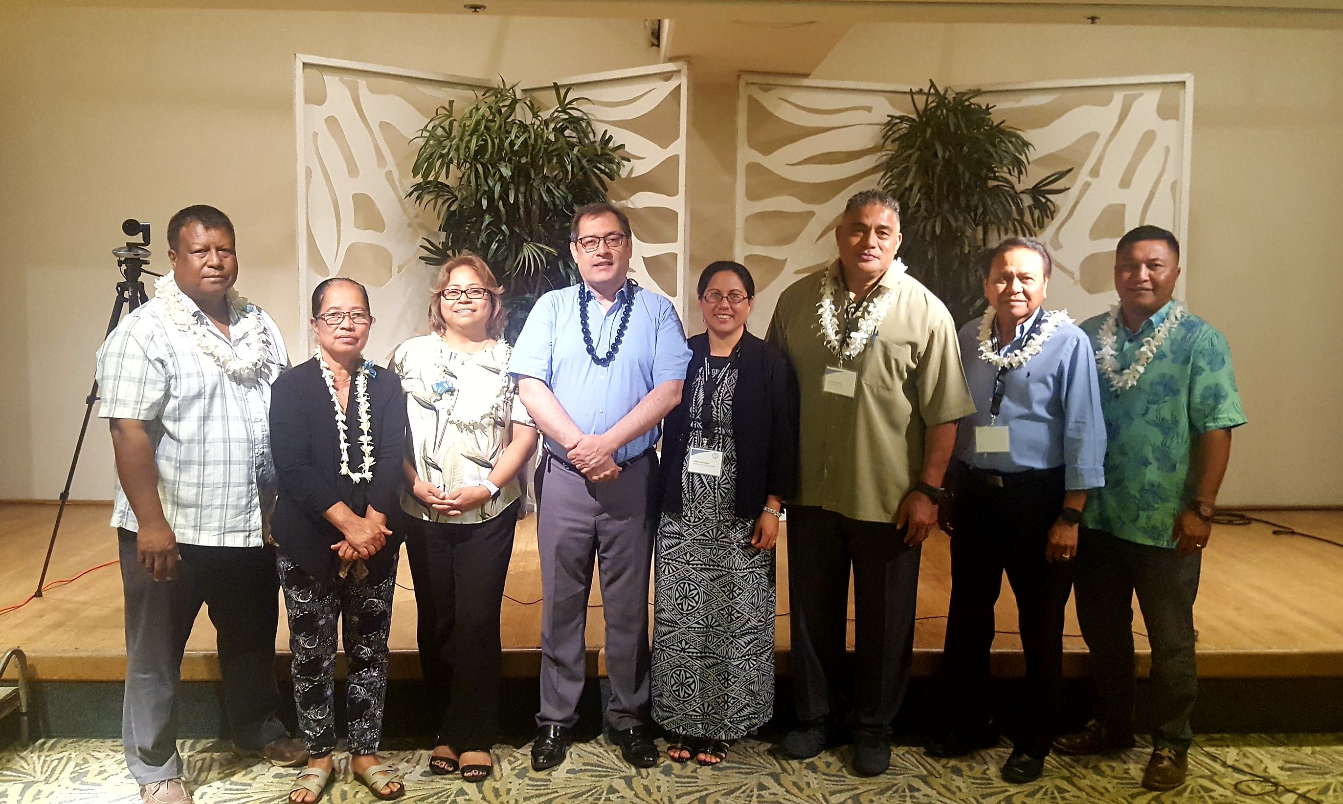 Group photo: OSTLTS Director José Montero visits with PIHOA and the ministers of health of the six US-Affiliated Pacific Islands