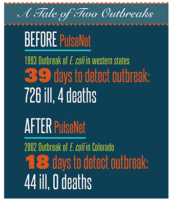 A Tale of Two Outbreaks: Before PulseNet - 1993 Outbreak of E. coli in western states
