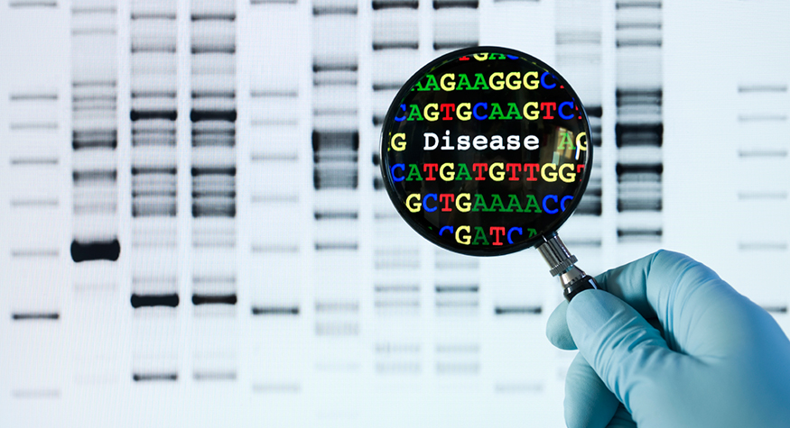 Magnifying glass genetic screening