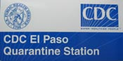 El paso Quarantine Station sign