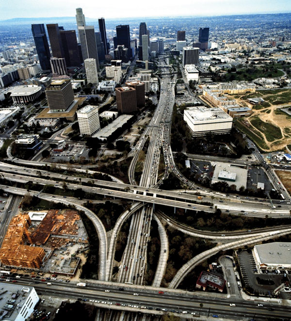 An ariel shot of Los Angeles.