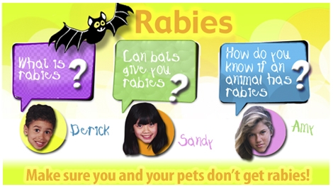 Rabies and Kids e-Card (Front cover)