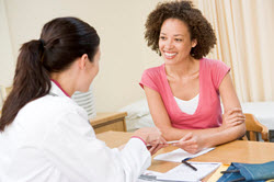 image of a patient speaking with a physician