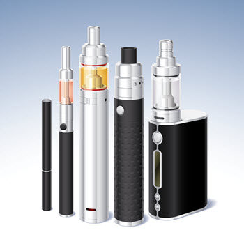 image of the ends of e-cigarettes