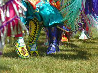 image feet moving to a native american dance