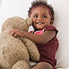 Baby girl with teddybear