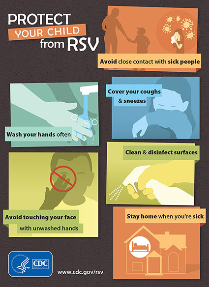 Protect Your Child from RSV infographic