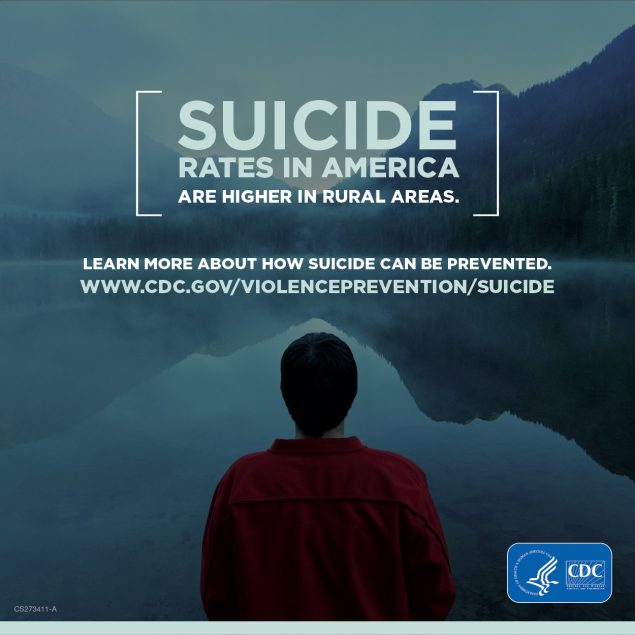 suicide Rural Health infographic