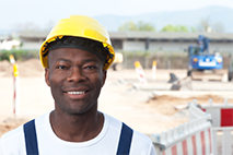 image on a man in a hard hat