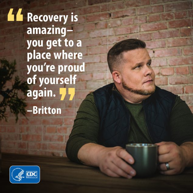Recovery is amazing - you get to a place where you're proud of yourself again.