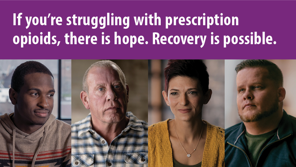 If you're struggling with prescription opioids, there is hope. Recovery is possible.