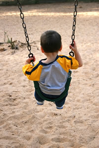 Photo: boy on a swing