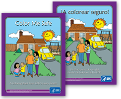 Color Me Safe coloring book covers