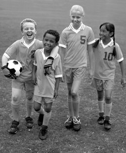 Photo: children soccer players