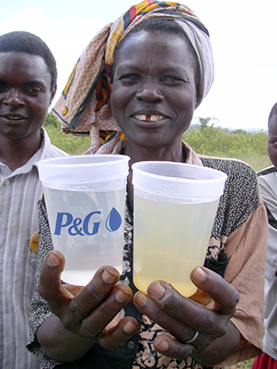 Turbid water in Kenya treated with PUR, G. Allgood, Proctor and Gamble