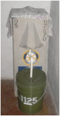 Locally-made concrete slow sand filter Pure Water for the World