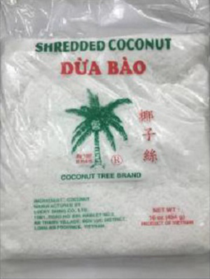 Image of Coconut Tree Brand Frozen Shredded Coconut