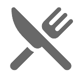 Illustration of a fork and a knife.