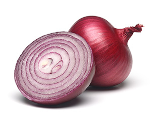 Photo of red onions.