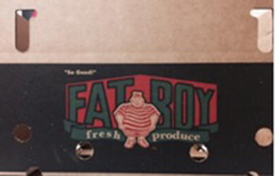 Fat Boy fresh produce crate