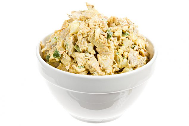 Photo of chicken salad.
