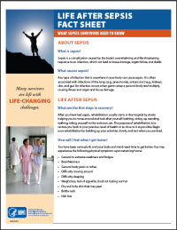 Life after Sepsis Fact Sheet: What sepsis survivors need to know