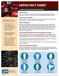 Sepsis Fact Sheet: A potentially deadly outcome from an infection