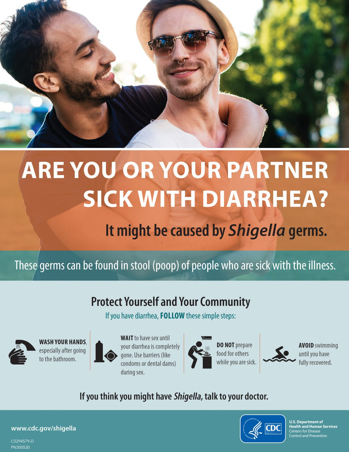 Are you or your partner sick with diarrhea? For MSM