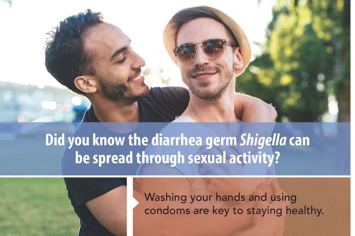 Did you know the diarrhea germ Shigella can be spread through sexual activity? For MSM.