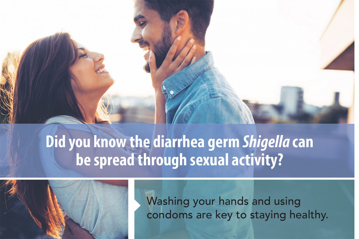 Did you know the diarrhea germ Shigella can be spread through sexual activity?