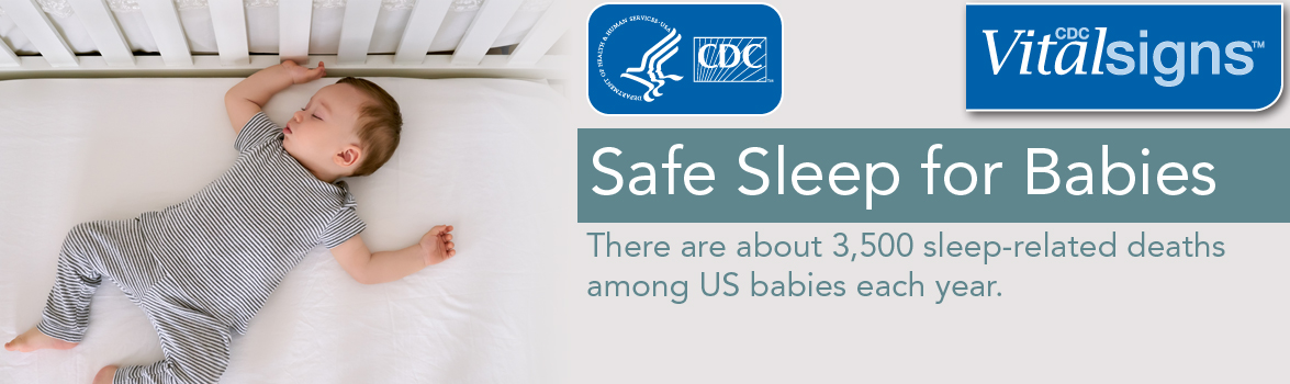 Safe Sleep for Babies. There are about 3,500 sleep-related deaths among US babies each year. (CDC Vital Signs)