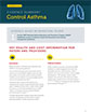 The cover of control asthma evidence summary.