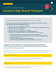 The cover of control high blood pressure evidence summary.
