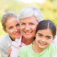 Foto de mujeres de tres generaciones