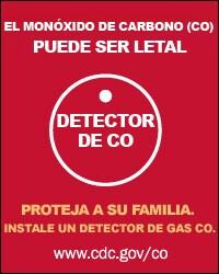 Envenenamiento Monóxido de Carbono, No puede ser visto, No se puede oler, No se puede escuchar, No se puede detener