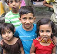 Foto: Cuatro niños.