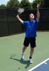 Foto de Rick jugando tenis
